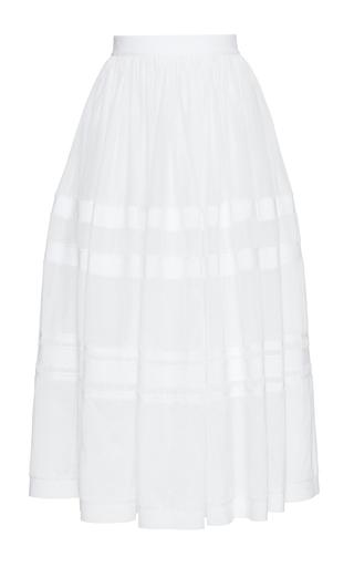 Medium maison rabih kayrouz white pleated long skirt
