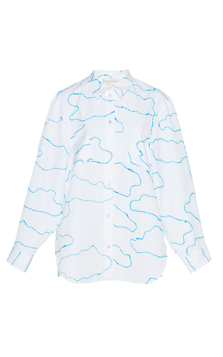 Medium maison rabih kayrouz white embroidered cloud shirt