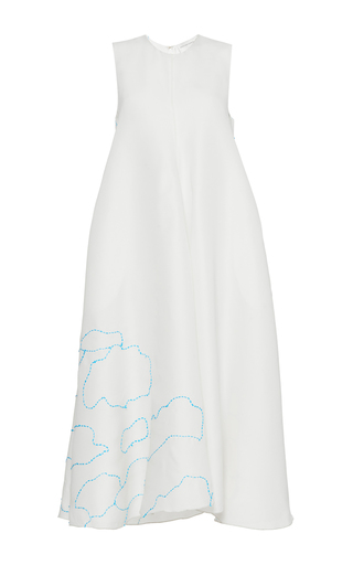 Medium maison rabih kayrouz white embroidered cloud tent dress