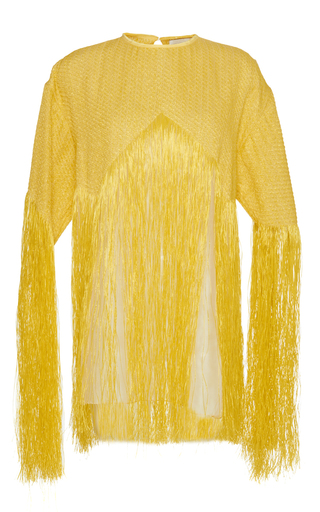 Medium maison rabih kayrouz yellow fringe blouse