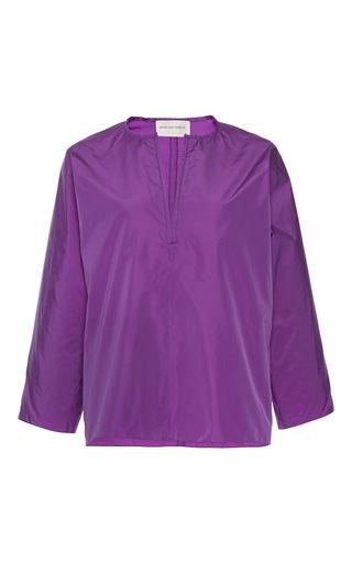 Medium maison rabih kayrouz purple quarter sleeve blouse