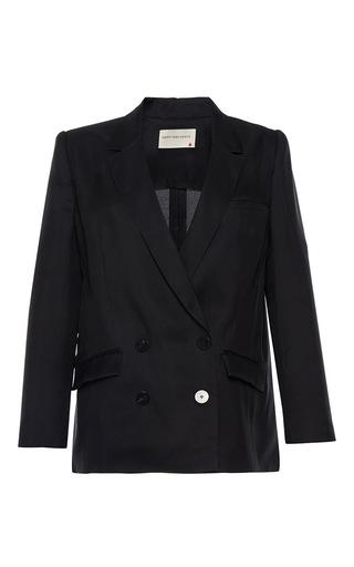 Medium maison rabih kayrouz black oversized double breasted silk blazer