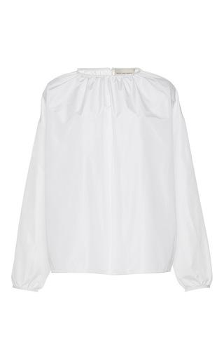 Medium maison rabih kayrouz white gathered long sleeve blouse