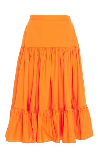 Medium mds stripes orange tiered ruffle skirt