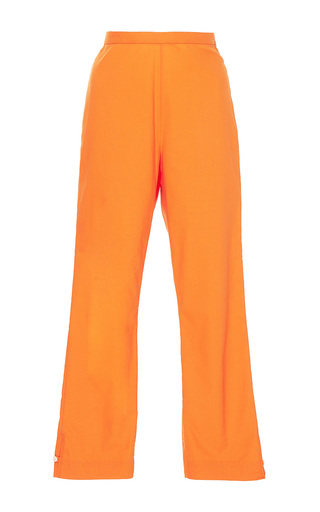 Medium mds stripes orange cropped straight pants