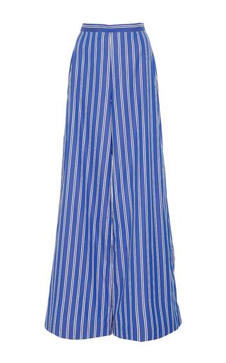 Medium mds stripes blue wide leg pants