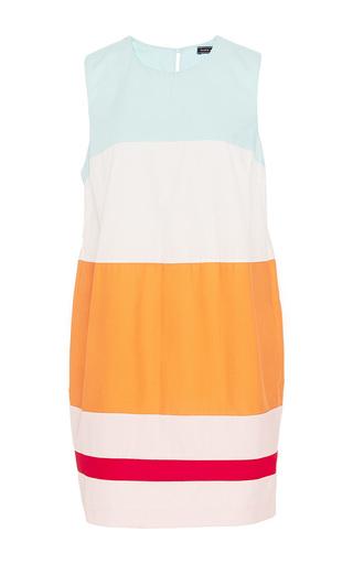 Medium mds stripes multi colorblock shift dress