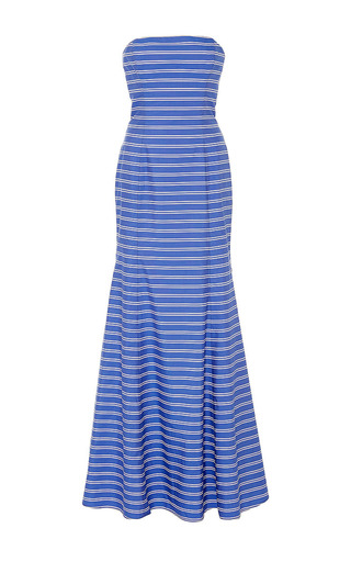 Medium mds stripes stripe striped strapless maxi dress