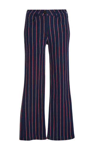 Medium 3x1 grey tabby striped flared jeans