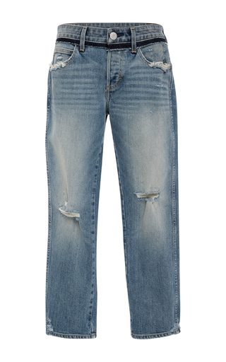 Medium amo  3 medium wash vintage tomboy crop jeans