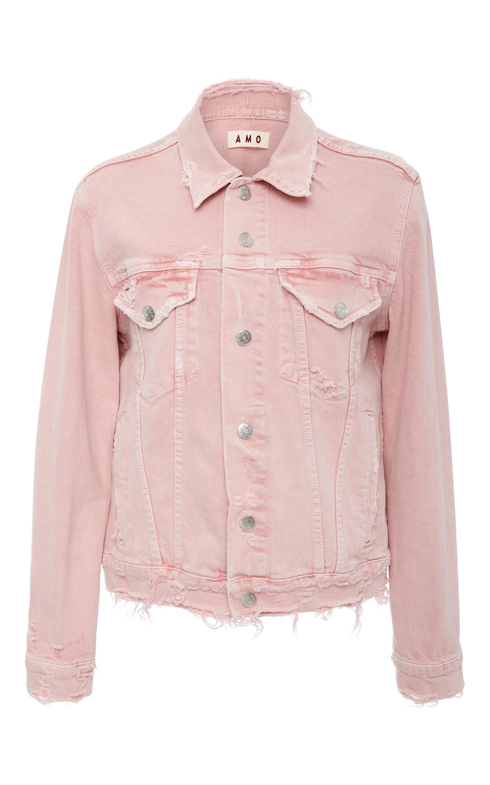 Moda Operandi | Vintage Stretch Pink Denim Jacket by AMO