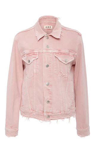 Medium amo  3 pink vintage stretch pink denim jacket