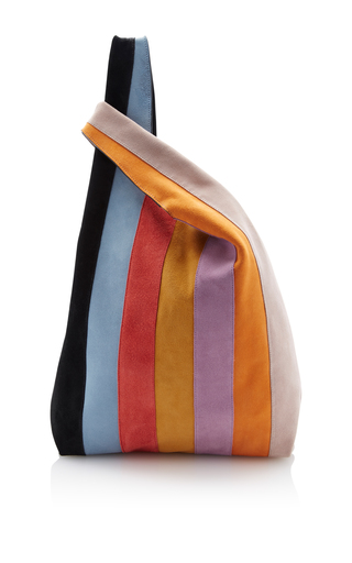 Medium hayward stripe striped suede shopper