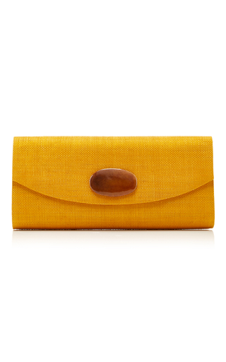 Medium deimos arte brown yellow envelope clutch