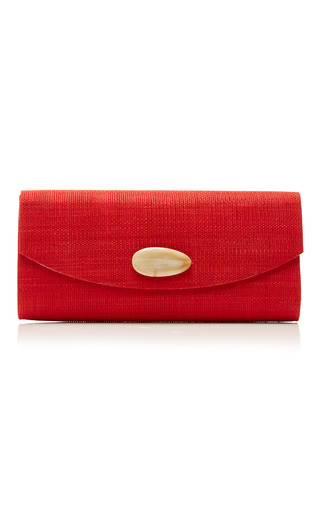 Medium deimos arte white red envelope clutch
