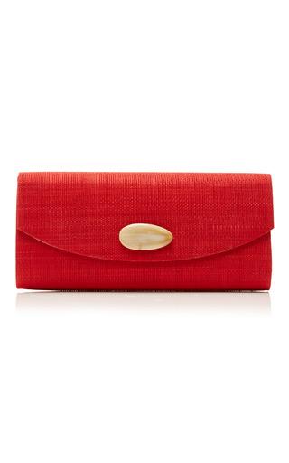 Medium deimos arte white red envelope clutch