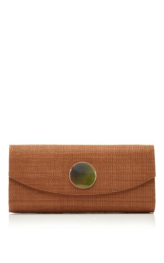 Medium deimos arte green taupe envelope clutch