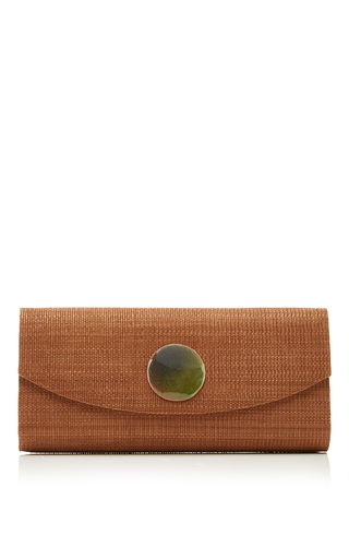 Medium deimos arte green taupe envelope clutch