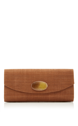 Medium deimos arte white taupe envelope clutch