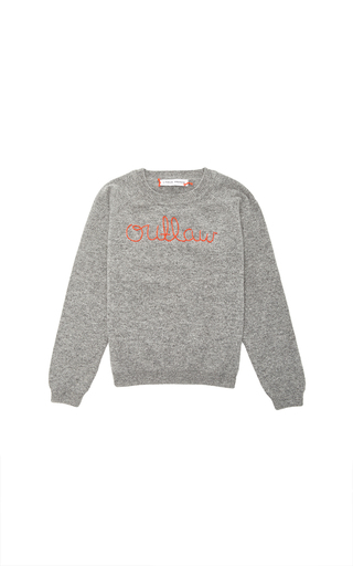 Medium lingua franca light grey lingua france grey cashmere sweater
