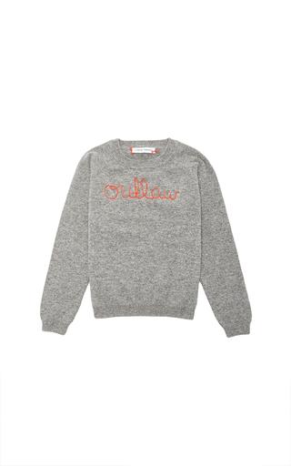 Medium lingua franca light grey lingua france grey cashmere sweater