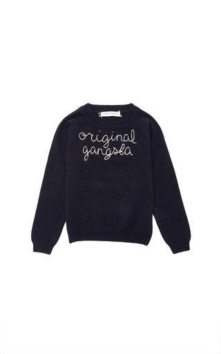 Medium lingua franca navy lingua franca navy cashmere sweater