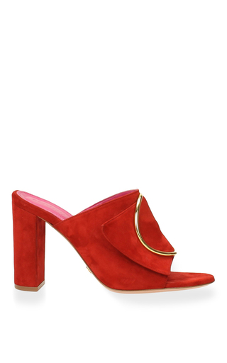 Medium oscar tiye red sade mule