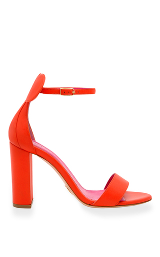 Medium oscar tiye red minnie sandal block
