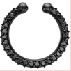 Medium lynn ban jewelry black black pave orbital hoop
