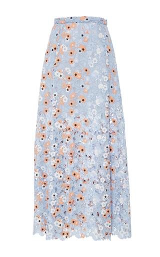 Medium katie ermilio multi floral a line guipure midi skirt