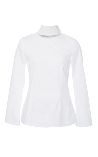 Medium katie ermilio white knotted sash back blouse