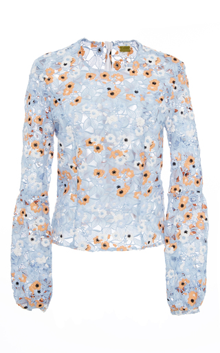 Medium katie ermilio multi pleated cinched bell blouse