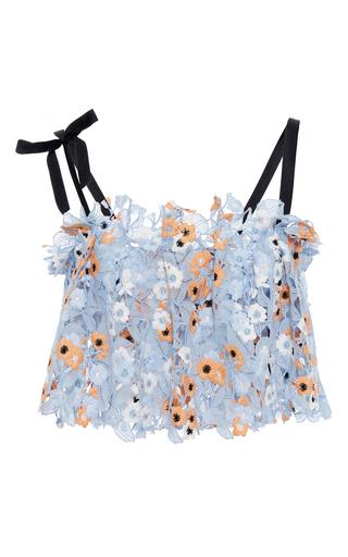 Medium katie ermilio multi cinched pleat bow tie lace mini top