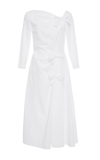 Medium katie ermilio white bow cinched a line dress