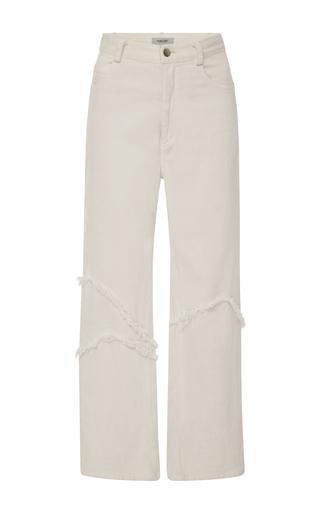Medium rachel comey white ticklers frayed crop jeans