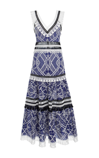 Medium jonathan simkhai blue embroidered cotton dress