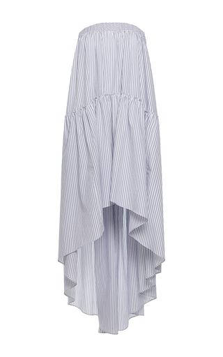 Medium martin grant stripe cotton a line strapless long dress