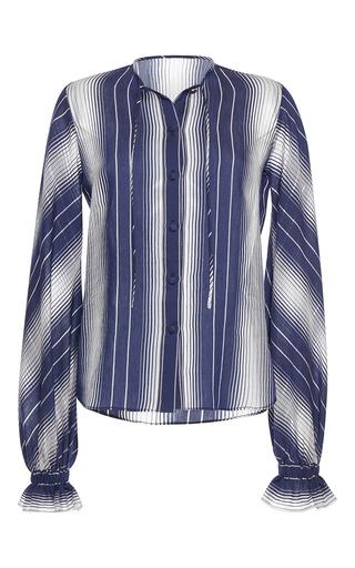 Medium martin grant stripe ruffle cuff shirt