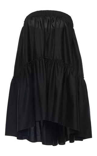 Medium martin grant black strapless babydoll dress
