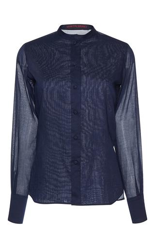 Medium martin grant blue classic long sleeve shirt
