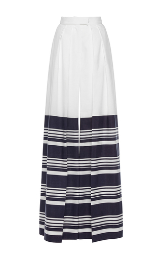 Medium martin grant stripe stripe pleated wide leg pants