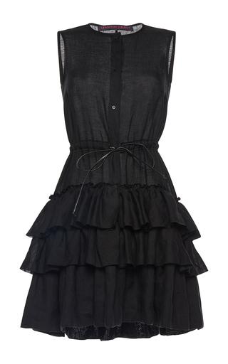 Medium martin grant black sleeveless ruffle little black dress