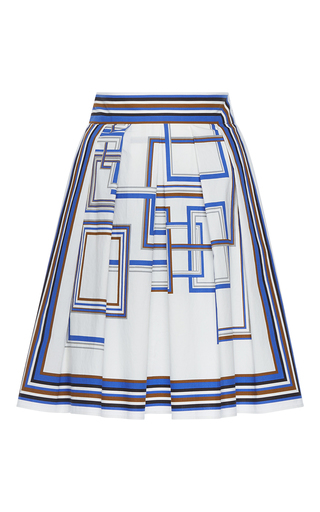 Medium martin grant print print pleated skirt