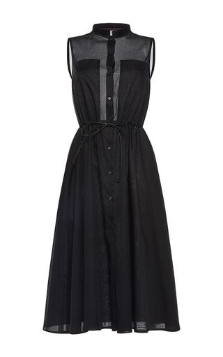 Medium martin grant black sleeveless sheer shirt dress
