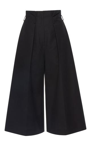 Medium martin grant black pleated high waisted bermuda pants