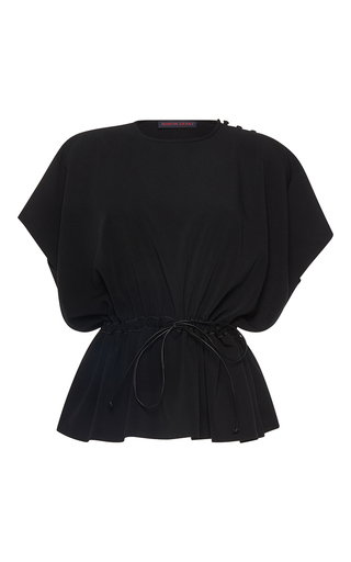 Medium martin grant black crepe drawstring top