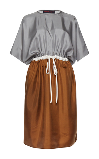 Medium martin grant multi bat sleeve drawstring dress