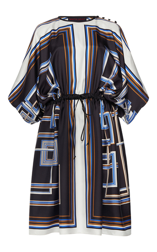 Medium martin grant print drawstring scarf dress