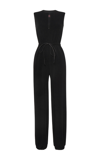 Medium martin grant black drawstring jogging jumpsuit