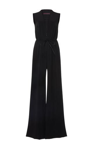 Medium martin grant black v neck drawstring jumpsuit
